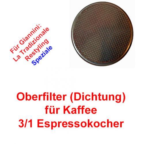 Oberfilter 3/1 Tassen Espressokocher Giannini