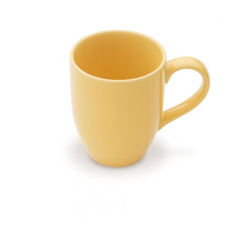 1x Hochwertige gelbe Kaffeetasse Humpen Giannini