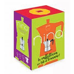 Nina 3 Tassen Aluminium Espressokocher rot