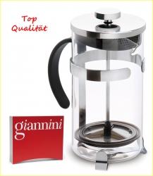 1 Liter French Press Aufgusskanne Pressstempelkanne Glas Giannini