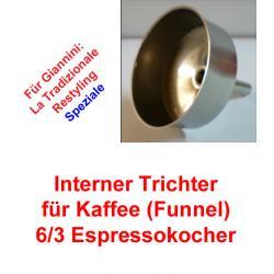 1x Trichter (Funnel) 6/3 Espressokocher Giannini