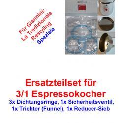 1x Set Ersatzteil 3/1 Espressokocher Giannini